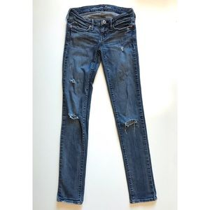 American Eagle Skinny Stretch Jeans Distressed
